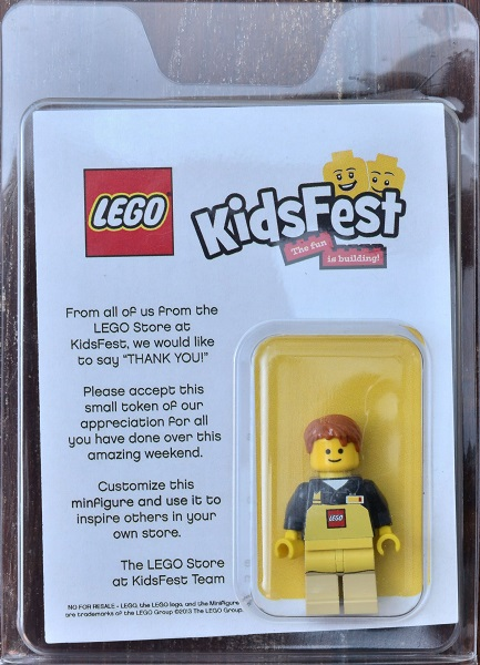 2013 LEGO Kidsfest Exclusive Minifigure (name tag on right)