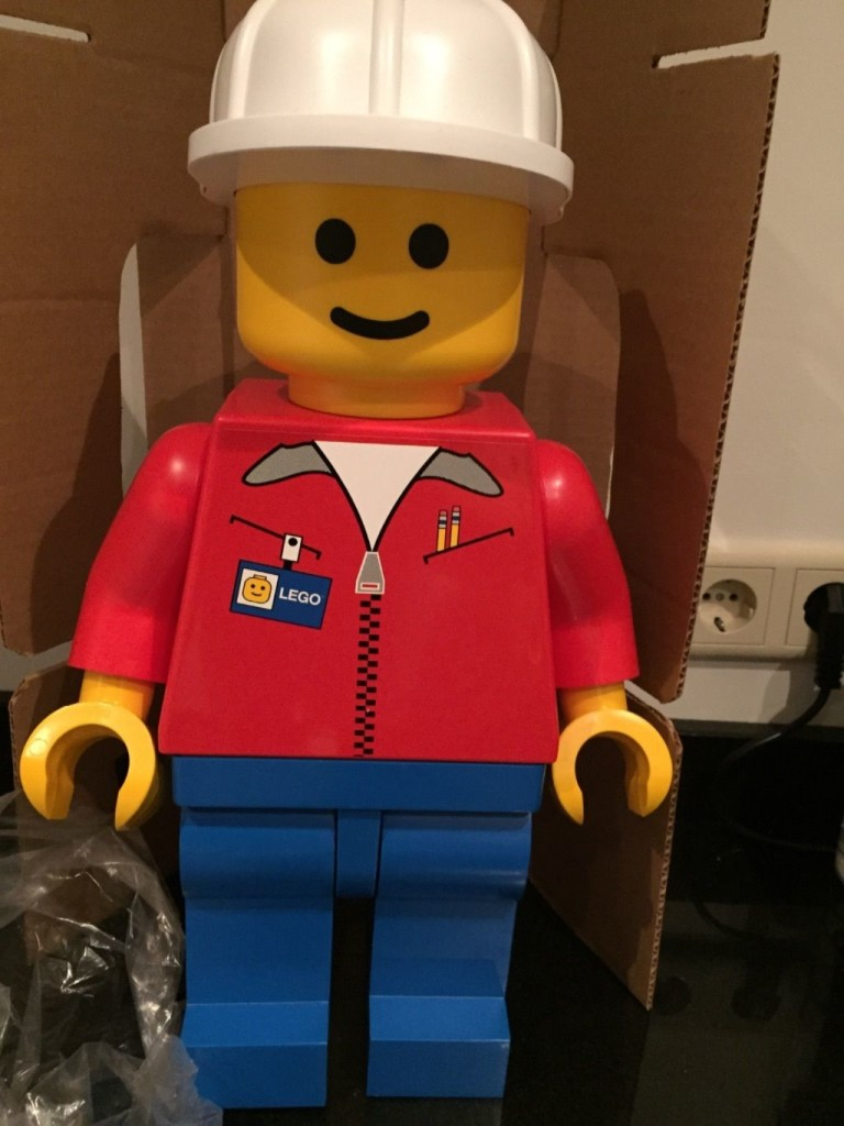 Lego 19 inch minifigure store display minifigure front