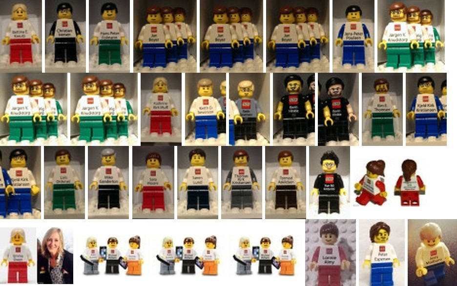 Lego Employee Business Cards Collection