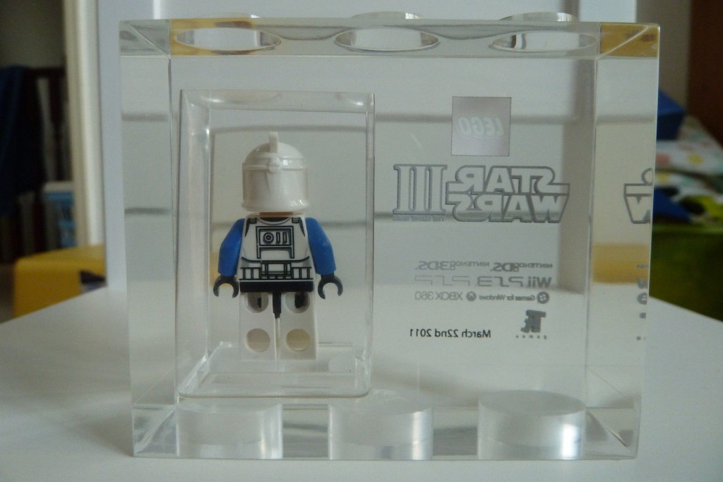 Lego TT Games Exclusive Star Wars III The Clone Wars Captain Rex Acrylic Brick Back