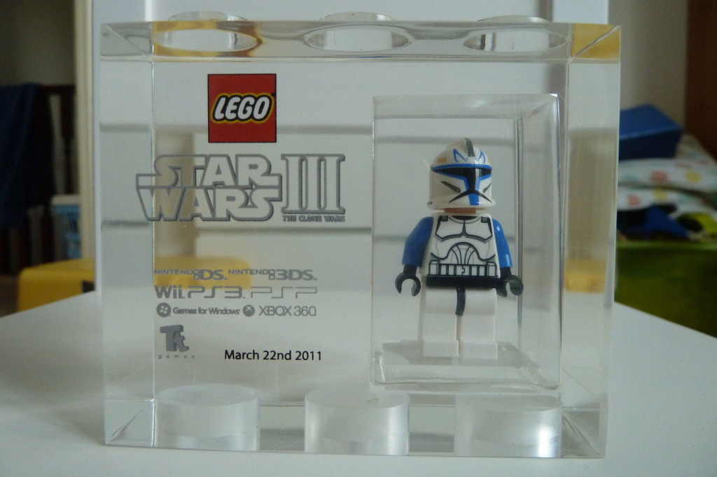 Lego TT Games Exclusive Star Wars III The Clone Wars Captain Rex Acrylic Brick Front