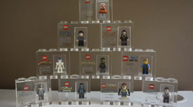 Another Large Collection of TT Games Acrylic Trophy Bricks