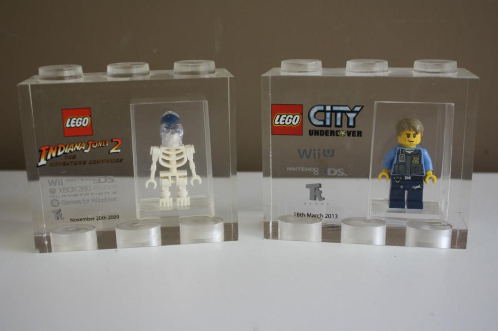 Lego tt games Acrylic trophy bricks Collection 6