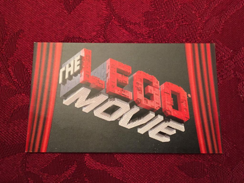 The Lego Movie Promotional Tin Sealed Backdrop Card
