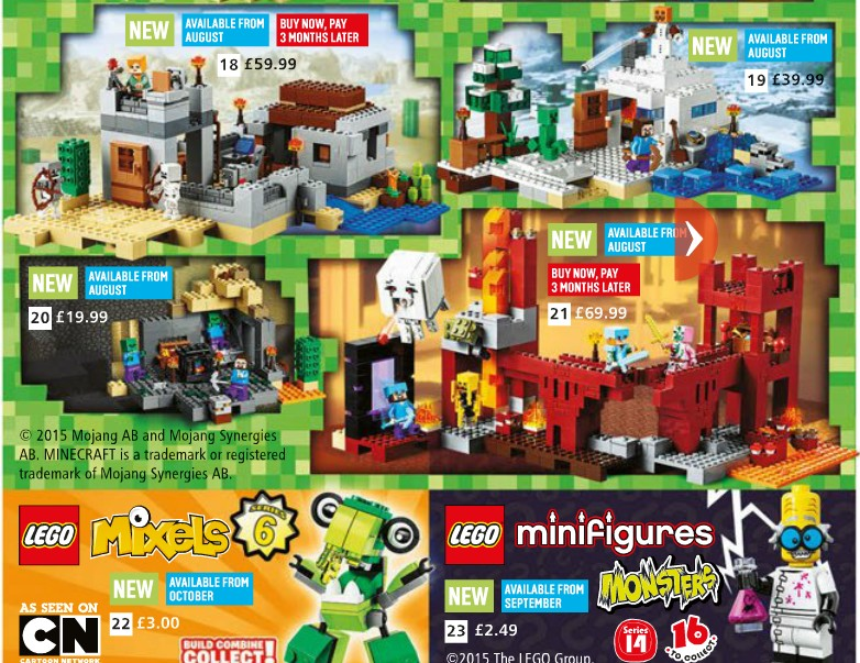 Argos Catalog Mine Craft Page