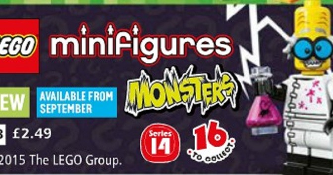 New Argos Catalog is out today  First mention of Series 14 Monsters