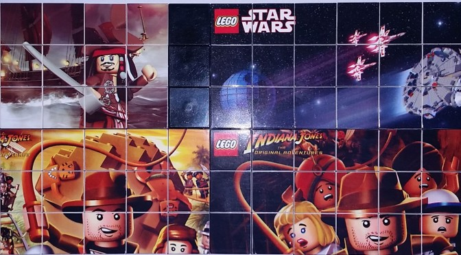 Star Wars and Indiana Jones and Pirates of The Caribbean Official Lego Printed Tiles