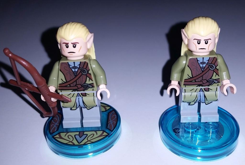 Lego Dimensions Legolas Differnt Face