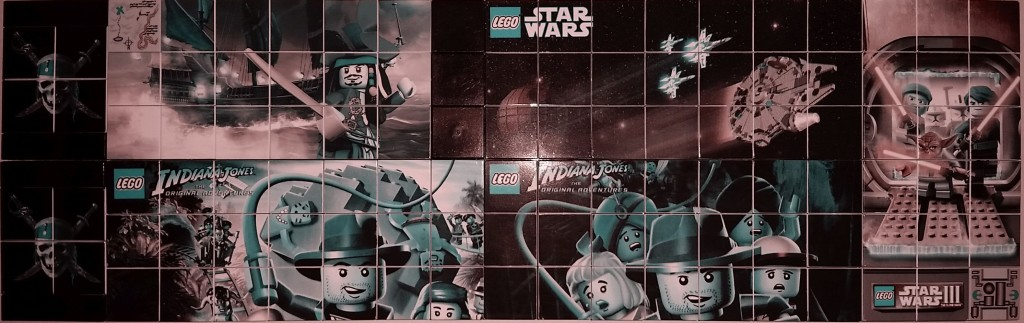 Lego Nintendo DS Printed Star Wars Indiana Jones and POC Inverse Tiles
