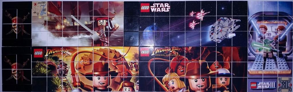 Lego Nintendo DS Printed Star Wars POC and INdiana Jones Tiles