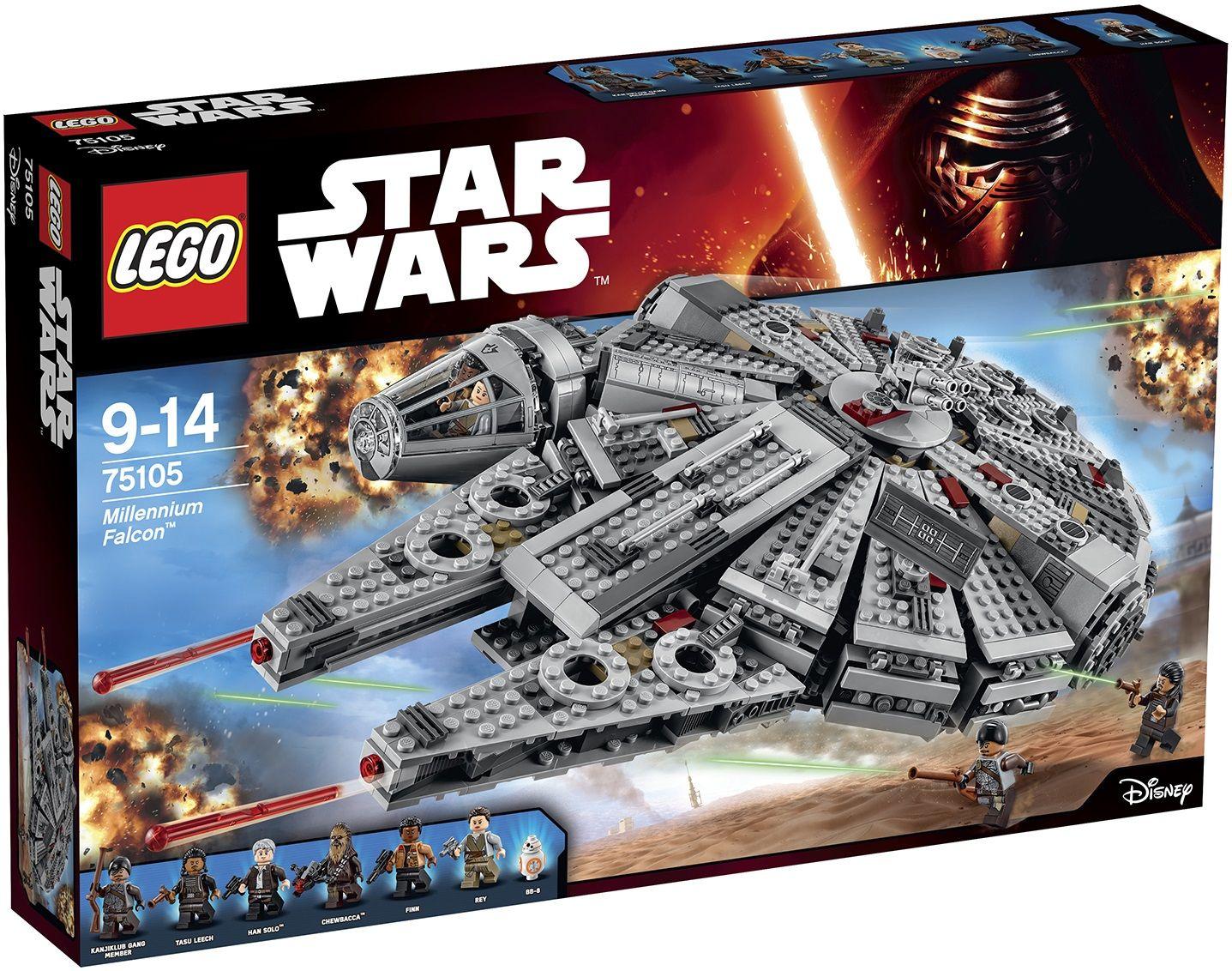 Lego star wars 75105 milenium falcon minifigures finally - Lego star warse ...