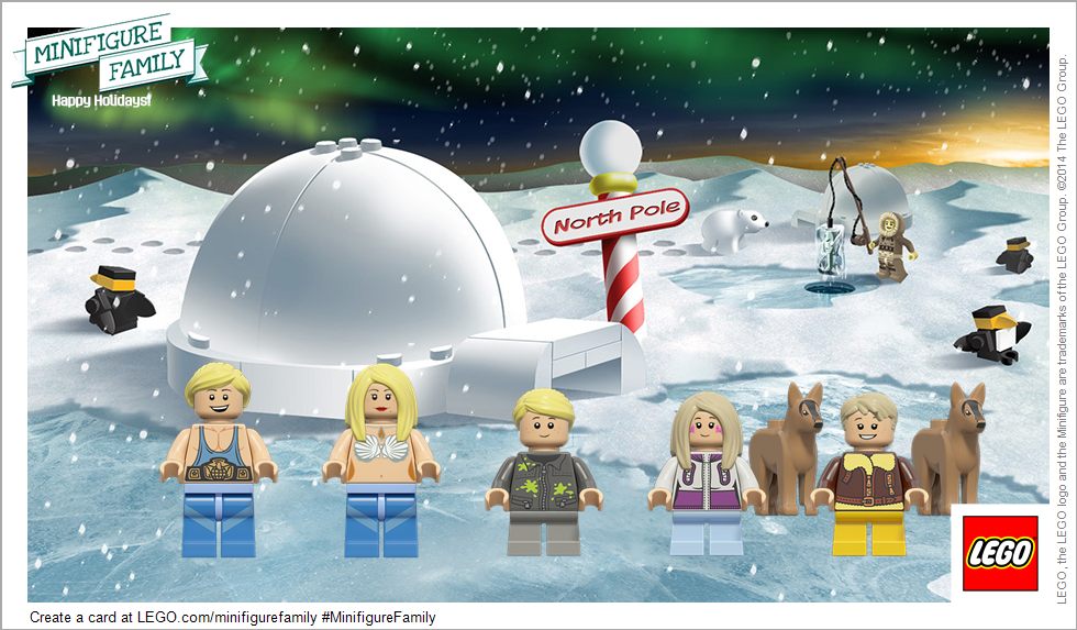 Create a Lego Holiday Card with Lego Minifigure Family Website