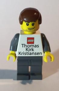 Lego Employee Business Card Minifigure Thomas Kirk Kristiansen