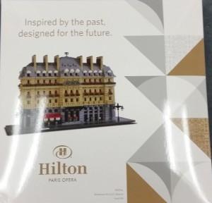 Lego Hilton Paris Opera luxury set limited to 500 copies Box
