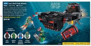 Lego Marvel SuperHeroes Iron Skull Sub Attack 76048