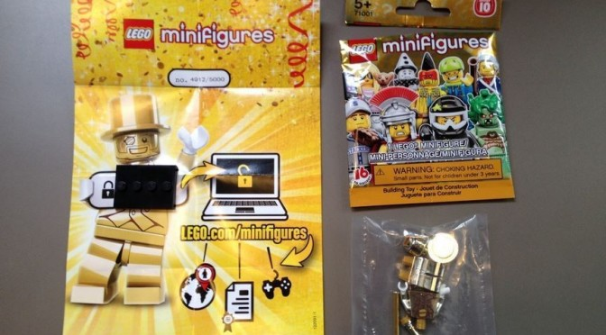 Lego Mr Gold Number 4912 over on Ebay for $1200 | Minifigure Price Guide