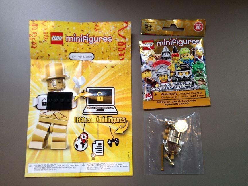 Lego Mr Gold Number 4912b