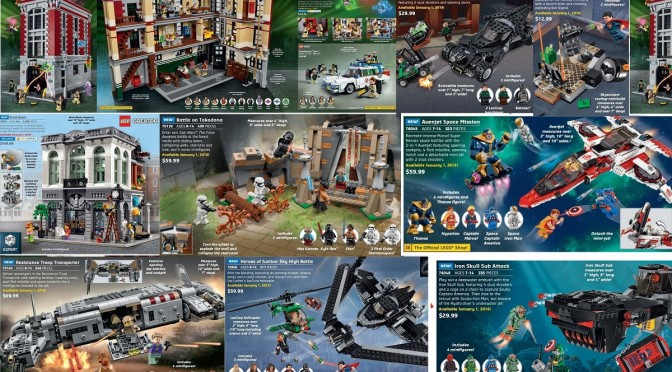 You can Now pick up the 2016  Brick Bank and Ghostbuster HQ and some Star Wars and SuperHeroes Sets – They are available now