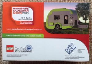 Limited Edition Lego Caravan Designed For Motor Home & Caravan Show 2015 back