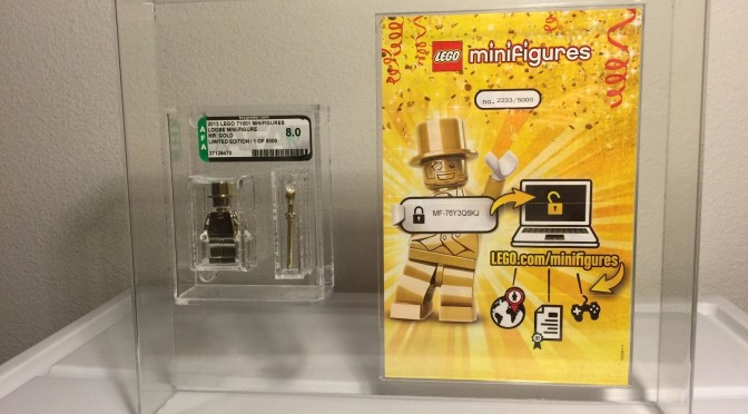Lego Mr Gold Number 2233 Found in California Graded by AFA ...
