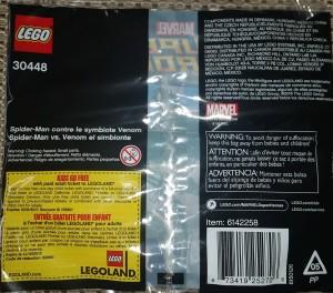 Lego 30448 Spider Man v Symbiote Venom Minifigure Back