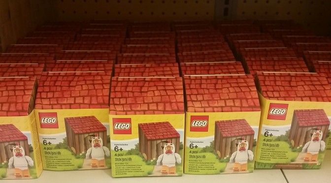 First Video Unboxing of Lego Toys R Us Chicken Suit Exclusive Easter Pack