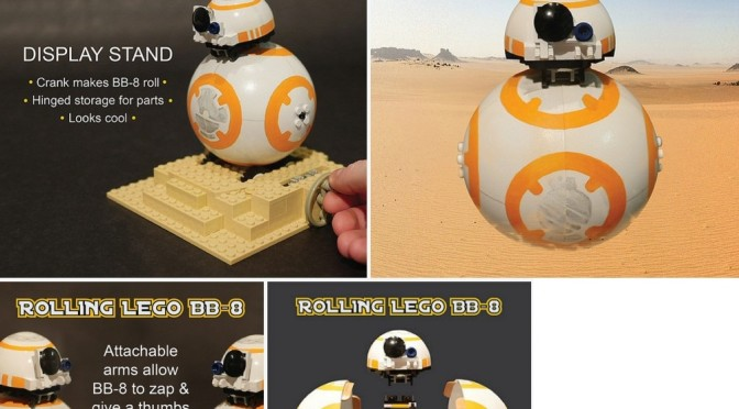 Lego BB-99 Actual Rolling Lego Build with Magnets and Detached Head