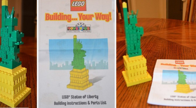 New York Times Square Pick A Brick Statue of Liberty Exclusive Lego ...