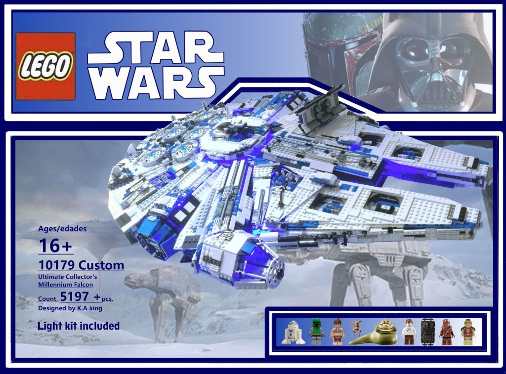 Custom Lego 10179 Millenium Falcon With Light Kit Wow Is All I Can