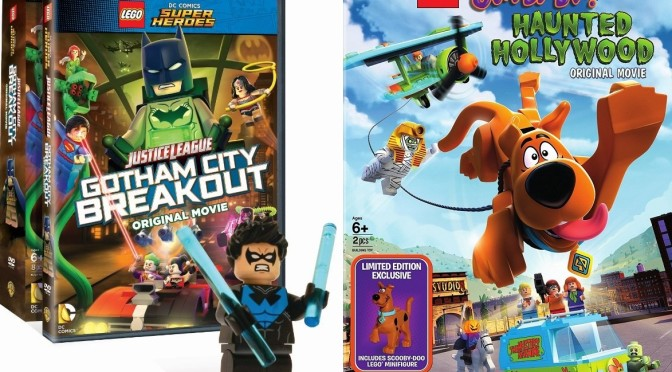 New Lego DVDs – Gotham City Breakout with Exclusive Nightwing and Haunted Hollywood with Exclusive Scooby