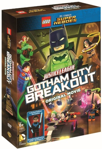 Lego DVD Justice League Gotham City Breakout with Nightwing Minifigure Front