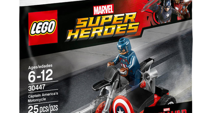 Lego Super Heroes Marvel Civil War Captain America Motorcycle ...