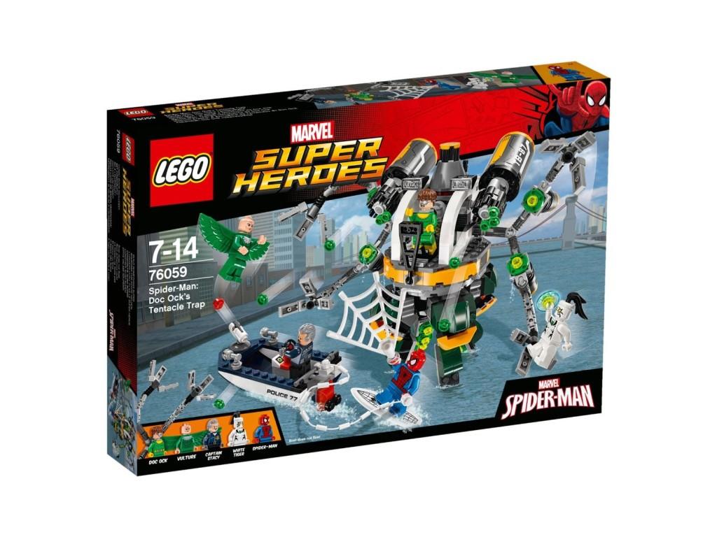 LEGO 76059 Super Heroes Spider-Man Doc Ock's Tentacle Trap front
