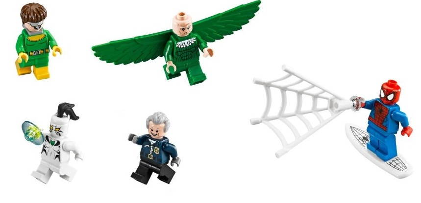 LEGO 76059 Super Heroes Spider-Man Doc Ock's Tentacle Trap minifigures