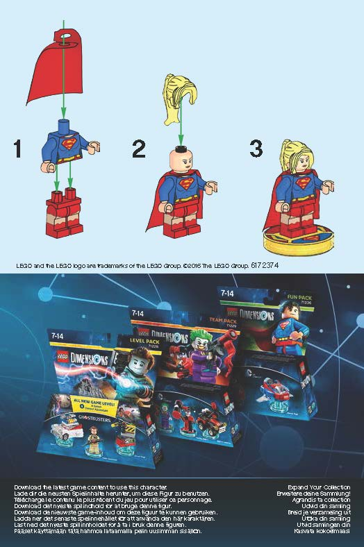 Lego Dimensions 71340 Supergirl Fun Pack Page 2