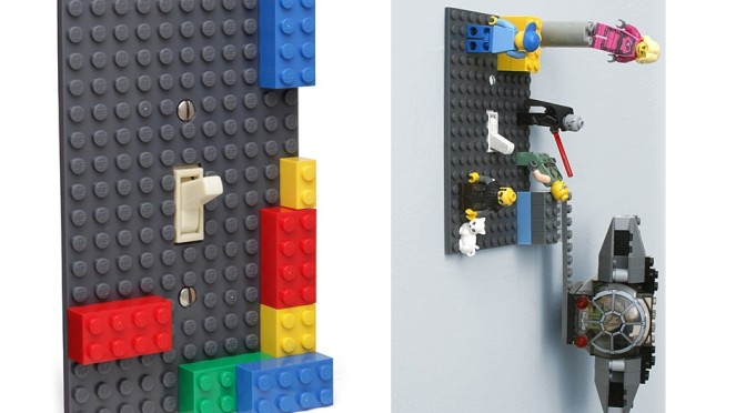 Stick Some Lego to Your Light Switches – You can never have too much – Right?