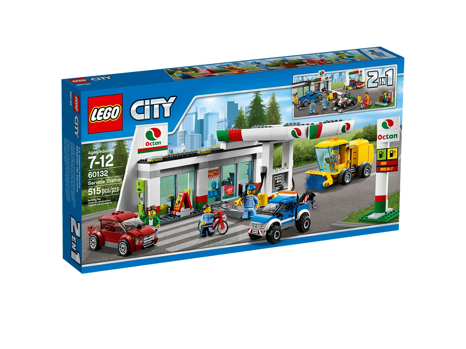 Lego 60132 Service Station Official Images : Minifigure ...