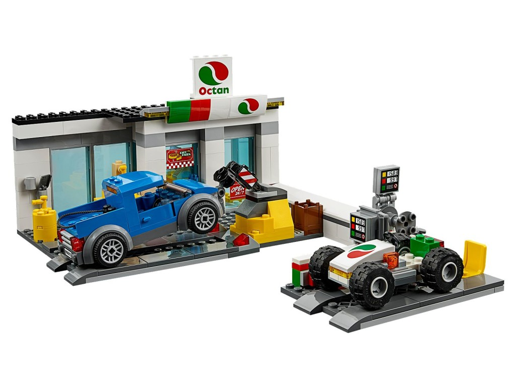 lego 60132 service station official images minifigure. Black Bedroom Furniture Sets. Home Design Ideas