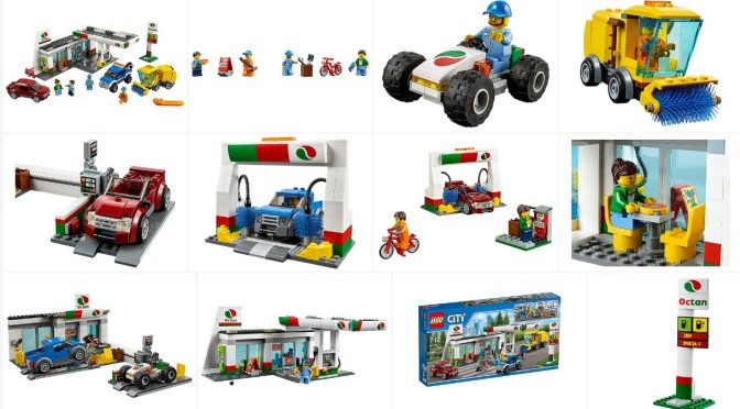 Lego 60132 Service Station Official Images | Minifigure Price Guide