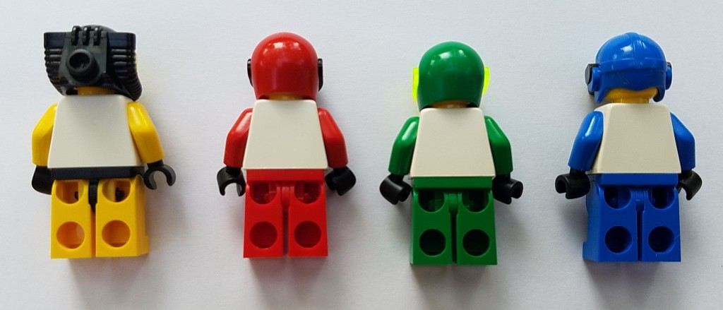 Lego Whales Crocs Tigers and Scorpions Minifigures Back