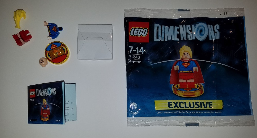 Lego Dimensions Supergirl Exclusive Playstation 4 Starter Pack Polybag 71340 Original Front