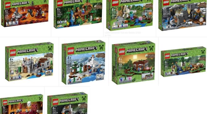 Lots and Lots of Lego Minecraft Sets on Sale for 20 to 30 Percent off on Amazon