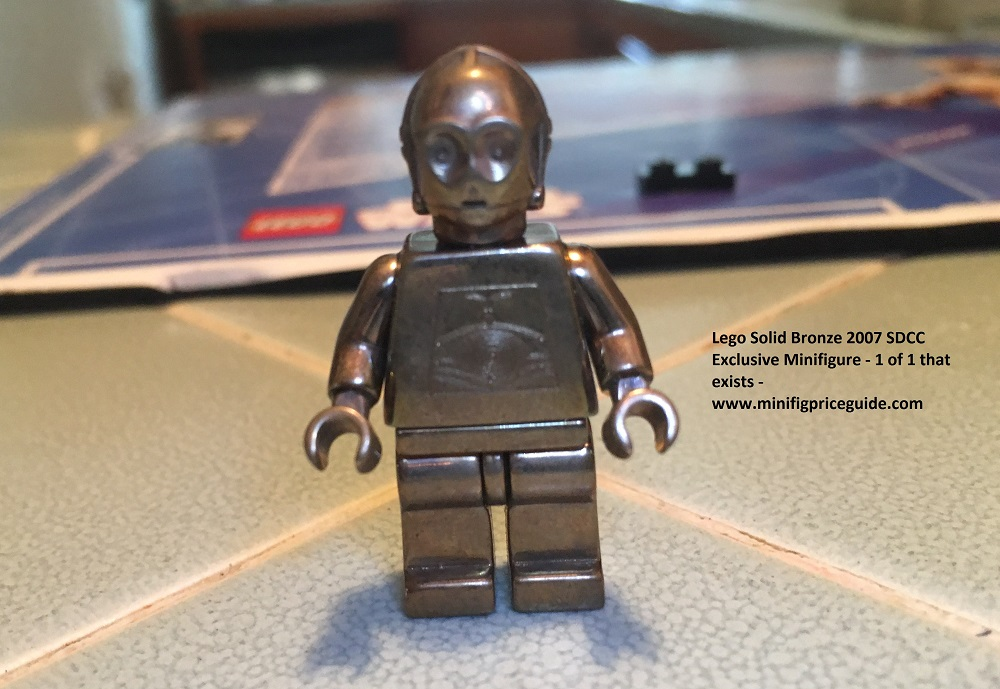 Lego Solid Bronze c-3po Minifigure 1 of 1 SDCC 2007 Star Wars 30th Anniversary Front