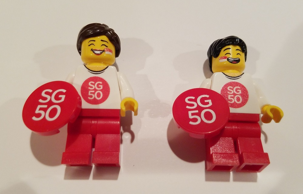 Minifig Labs Custom SG50 Boy and Girl Minifigures SG50 Front