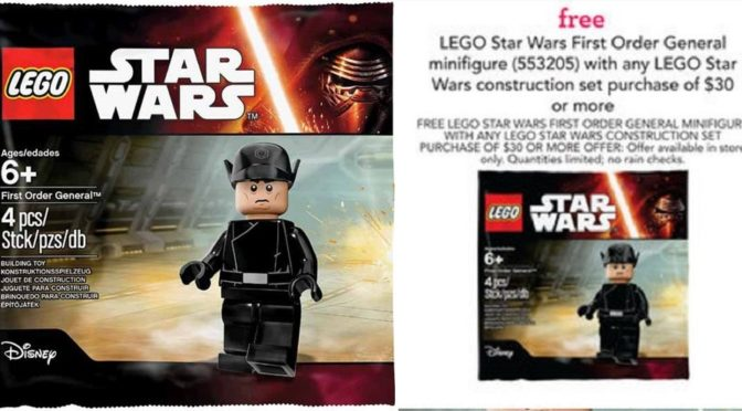 Get you First Order General 5004406 at Toys R us starting on 9/25