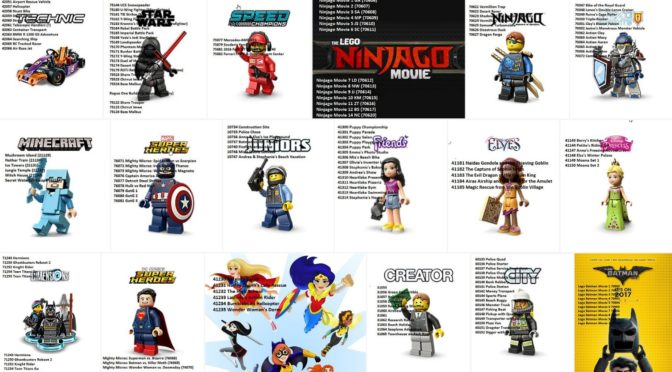 Complete Compiled list of all 2017 Lego Set Rumors that I can find