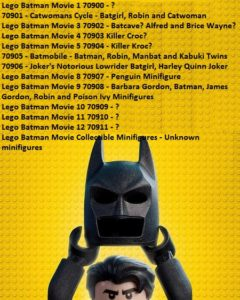 Lego Batman Movie 2017