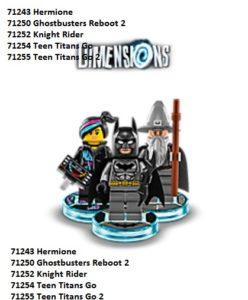 Lego Dimensions 2017