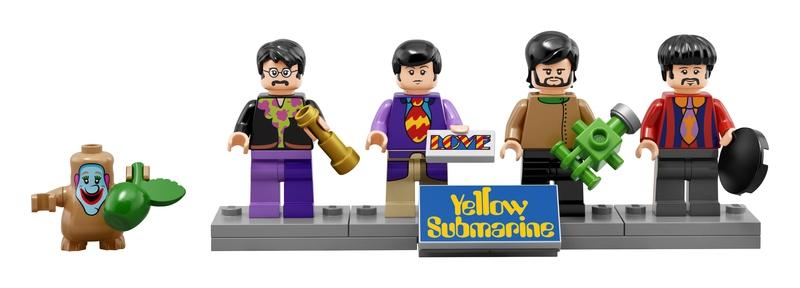John, Paul, George and Ringo Knex Beatles Yellow Submarine Minifigures