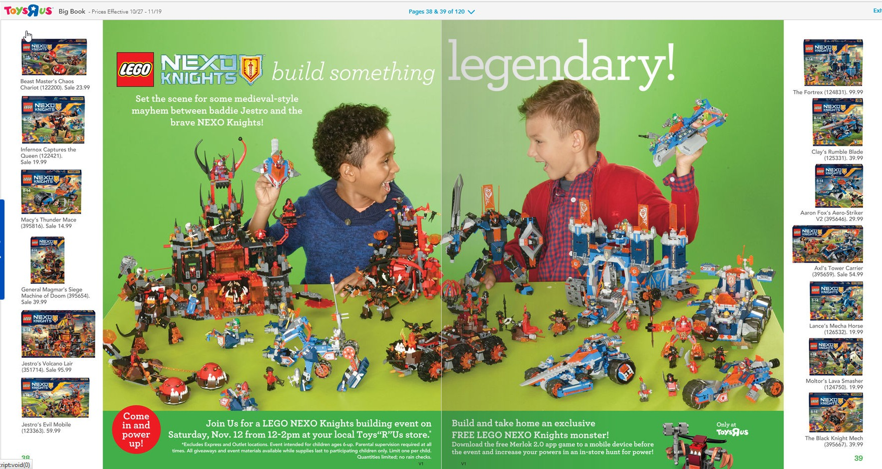 Toys R Us Christmas : Toys r us holiday catalog is out minifigure price guide